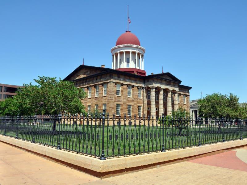 Altes Kapitolgebäude, Springfield, IL stockbild