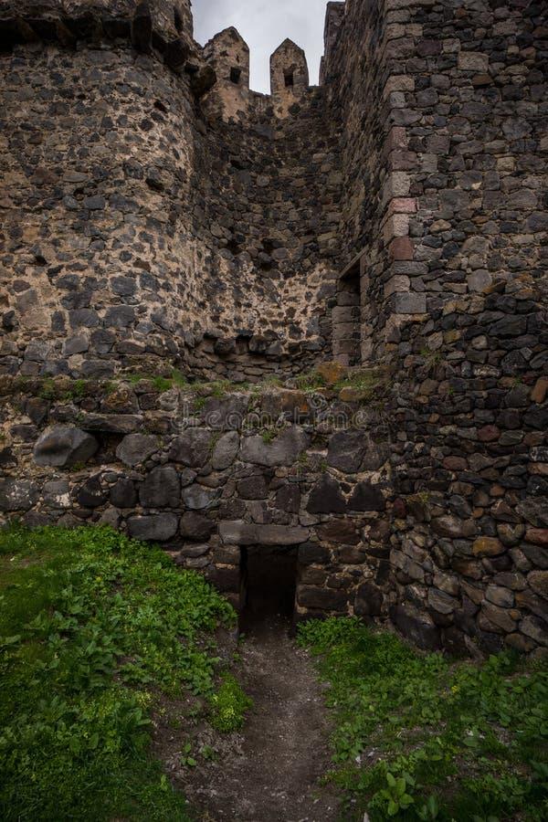 Altes Kaukasus-Fort der Khertvisi-Schlossruinen stockfotografie
