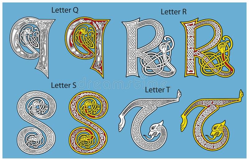 Altes Keltisches Alphabet Stockbilder