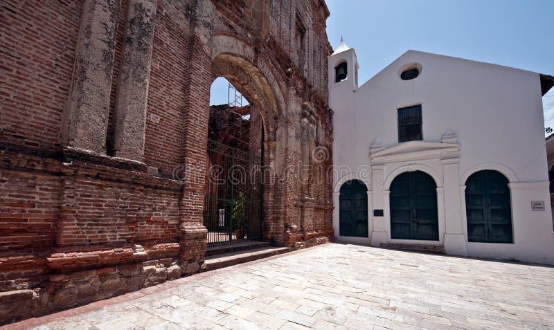Altes Kirche Casco viejo Panama stockfoto