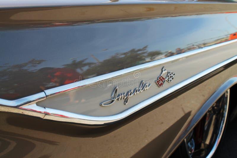 Altes klassisches Chevy Impala-Seitensonderkommando lizenzfreie stockfotografie