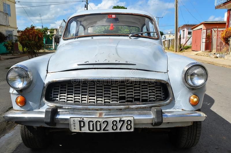 Altes klassisches tschechisches Motor- Skoda, Kuba lizenzfreie stockbilder