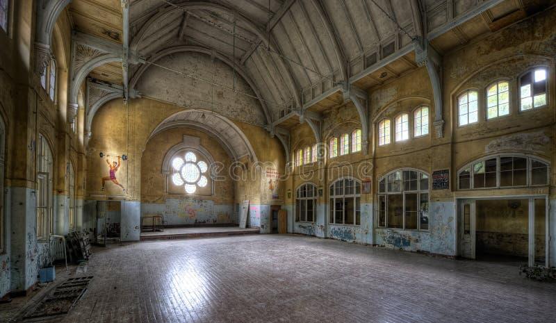 Altes Krankenhaus in Beelitz stockfoto