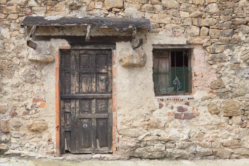 Altes ländliches Haus in Asturien stockbild