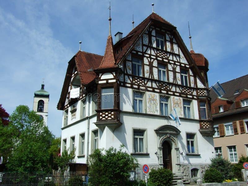 Altes Landhaus in der Stadt von Gossau lizenzfreie stockfotografie