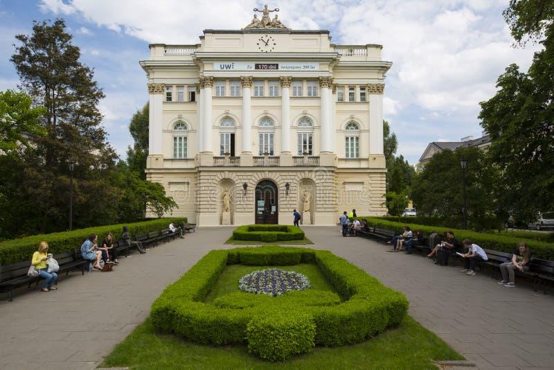 Altes LibraryAt die Universität von Warschau, Polen stockbild