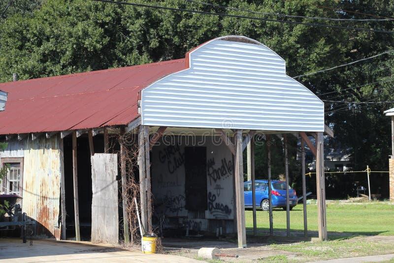 Altes Louisiana-Gebäude stockbild