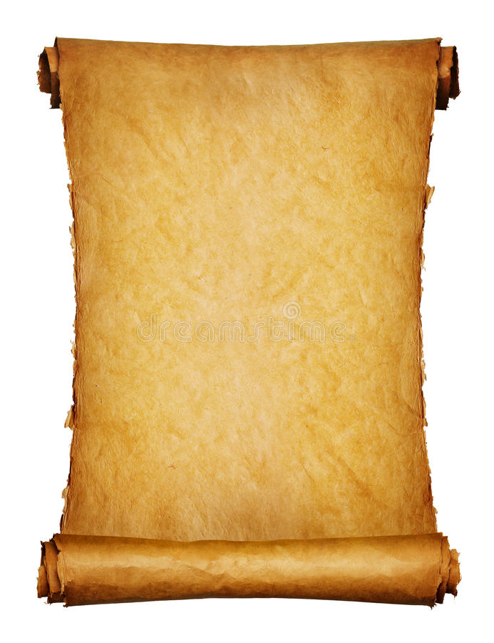 Altes Manuskript getrennt über einem Weiß lizenzfreie stockbilder