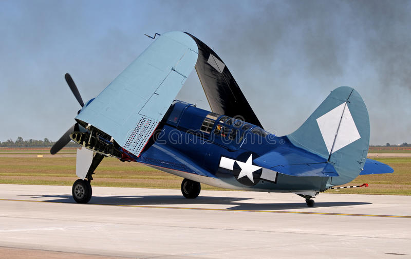 Altes Marine figher Flugzeug lizenzfreies stockbild