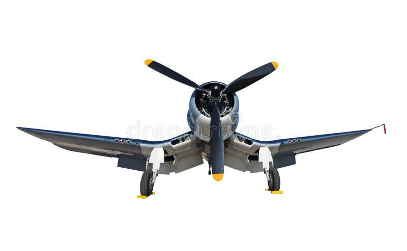 Altes Marineflugzeug isplated stockbild