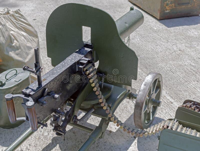Altes Maschinengewehr lizenzfreie stockbilder