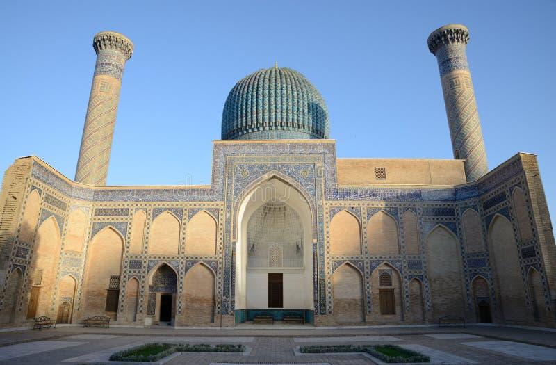 Altes Mausoleum von Tamerlane in Samarkand stockfotografie