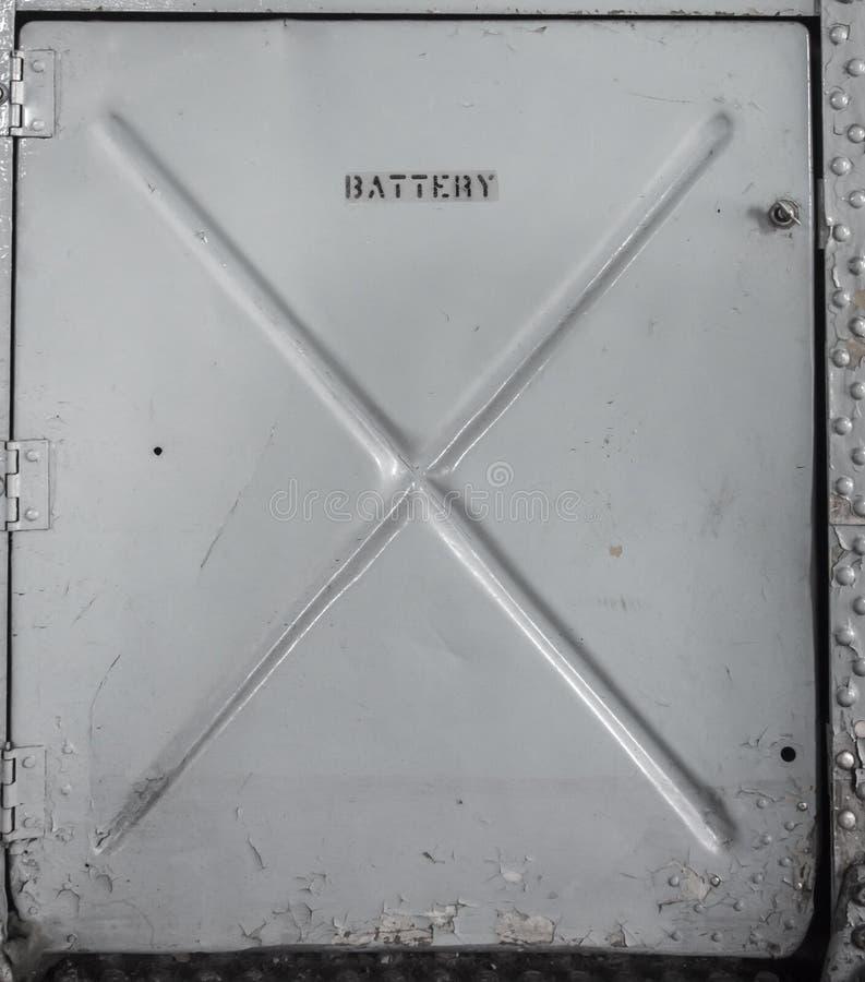 Altes Metall-batterry Fach stockbilder