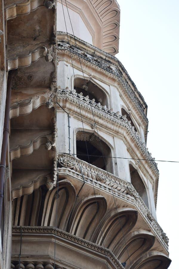 Altes Minarett von Nizam-Stadt von Hyderabad, Telengana-Staat von Indien lizenzfreie stockfotografie