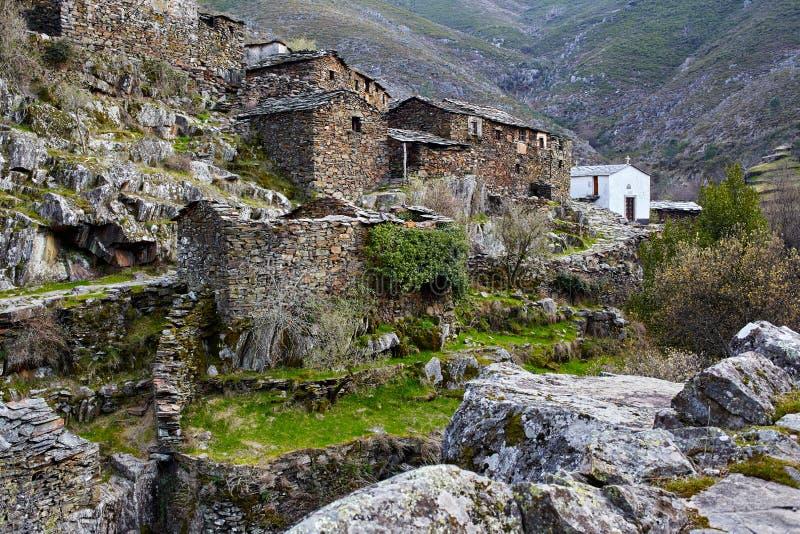 Altes mittelalterliches Dorf Drave in Portugal, Arouca, Aveiro stockfotos