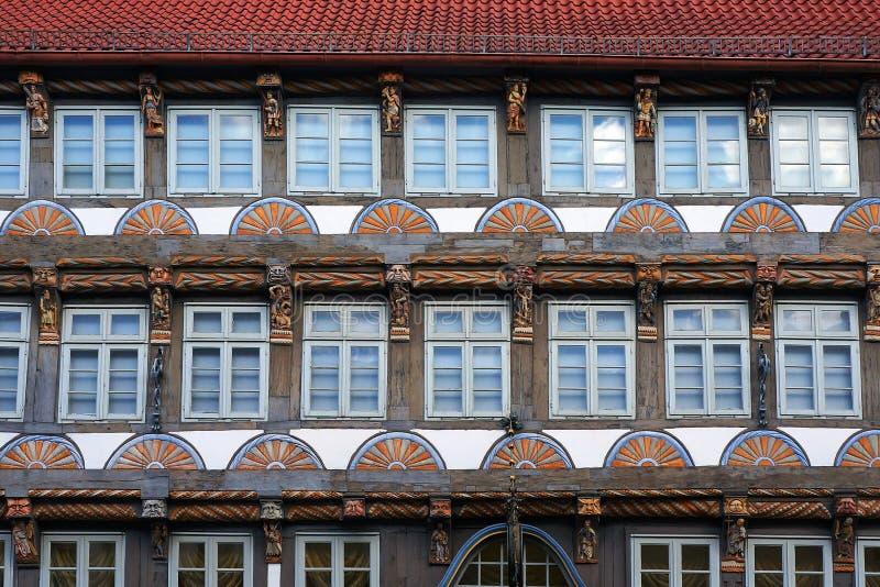 Altes mittelalterliches Gebäude in Hameln, Deutschland stockfotografie