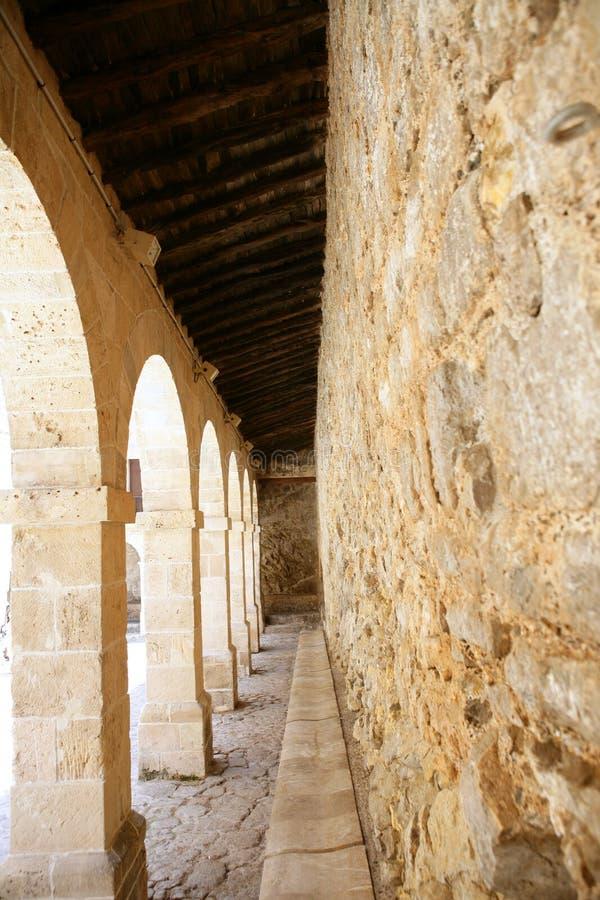 Altes Mittelmeerschloß der Ibiza Insel stockfotografie