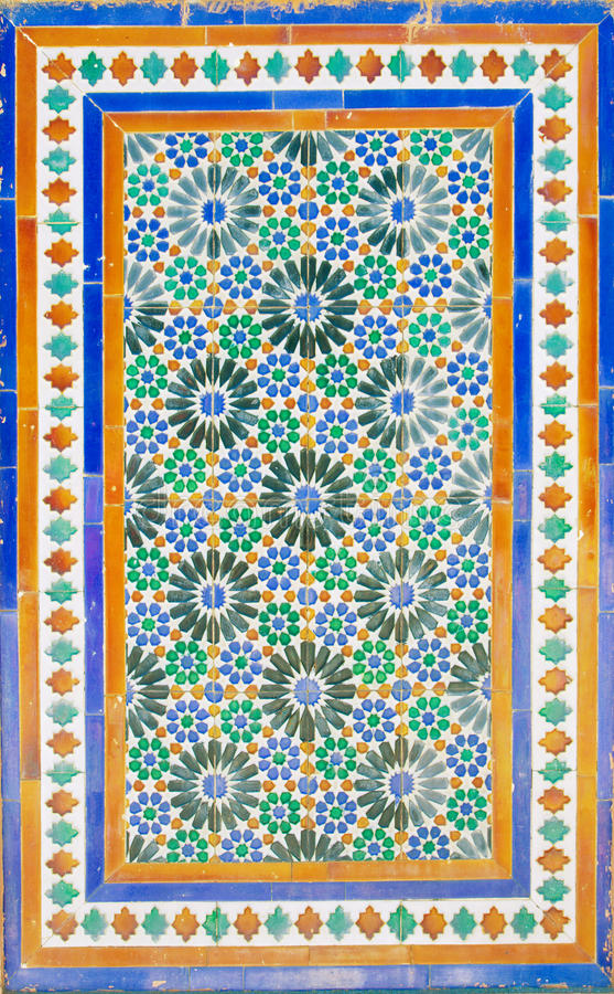 Altes Mosaik am Cartuja-Kloster, Sevilla stockfotografie