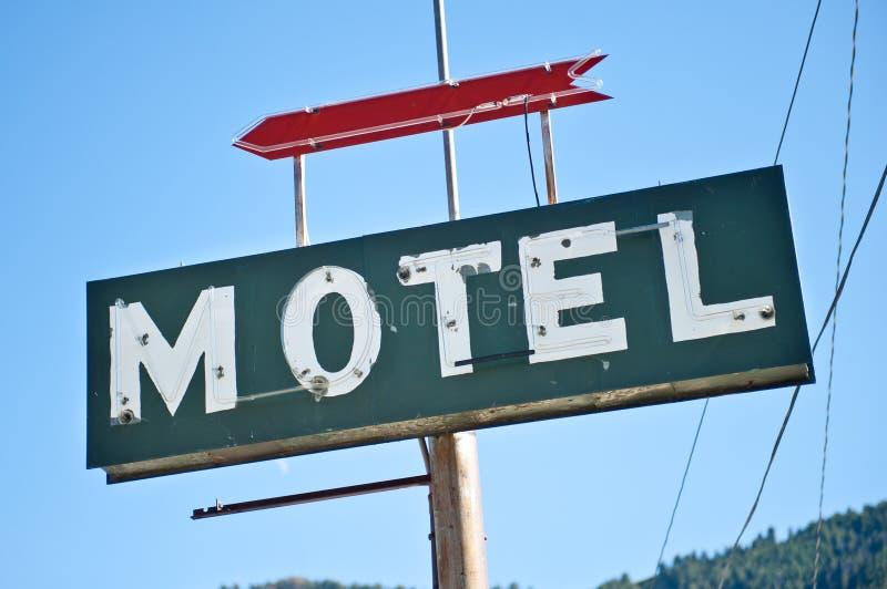 Altes Motel-Zeichen stockbilder