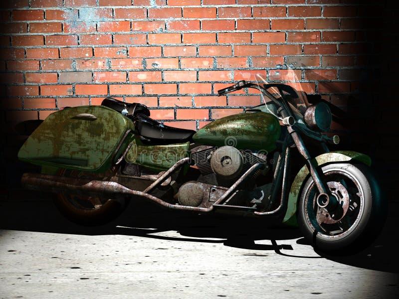 Altes Motorrad vektor abbildung