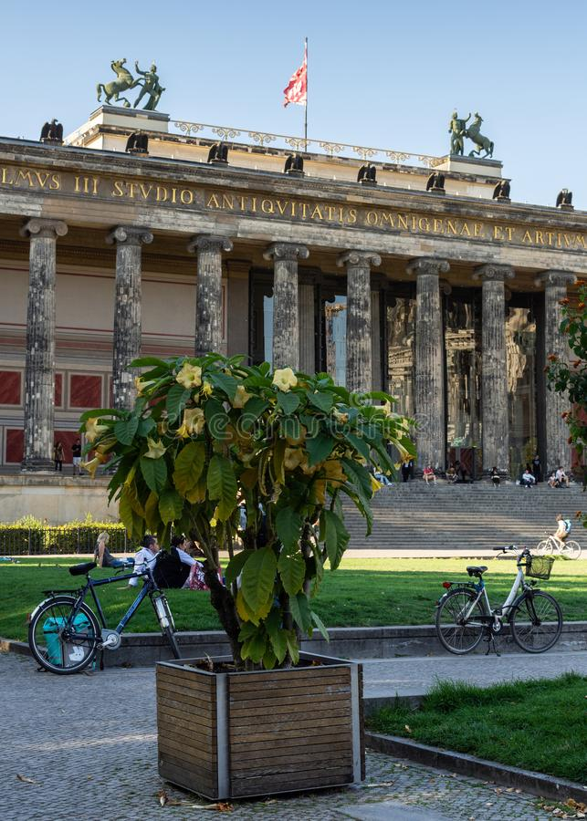 Altes-Museum oder altes Museum auf der Museumsinsel lizenzfreie stockfotos