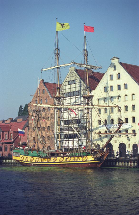 Altes Museumsschiff in Gdansk, Polen stockfotografie