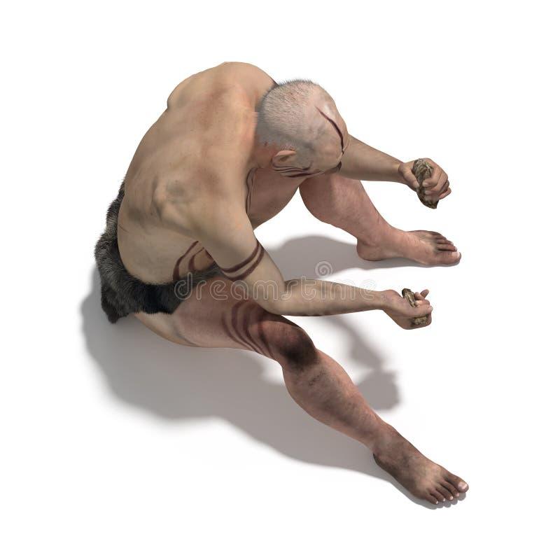 Altes neandertal stock abbildung