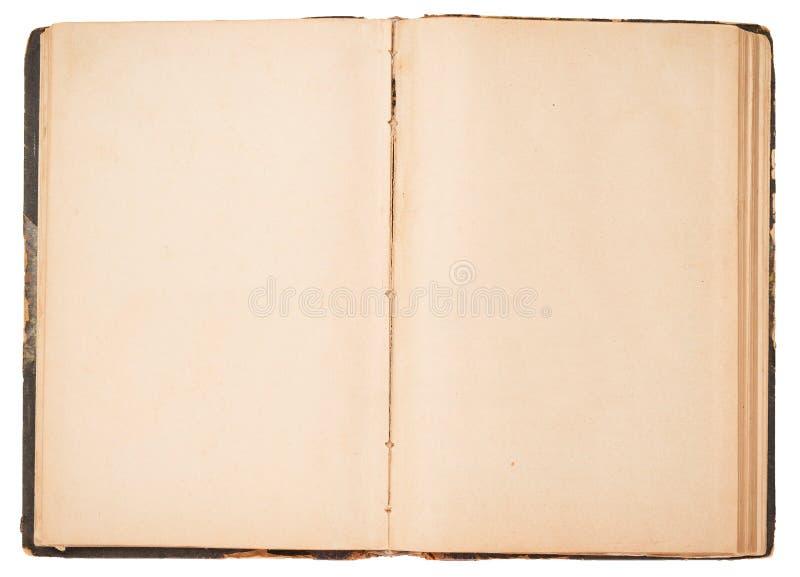 Altes offenes Buch lizenzfreie stockfotos