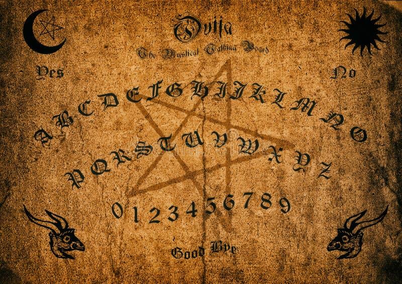 Altes Ouija-Brett lizenzfreie abbildung