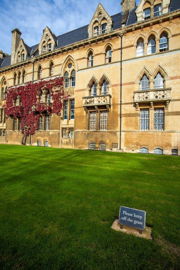 Download Altes Oxford-Gebäude stockfoto. Bild von stadt, rasen - 47100468