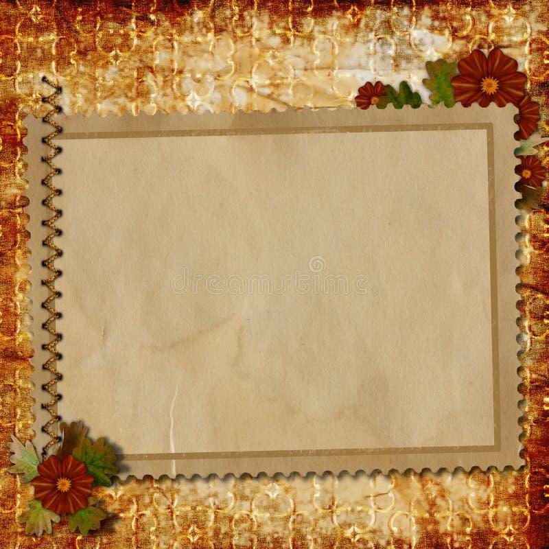 Altes Papier auf strukturiertem Hintergrund vektor abbildung