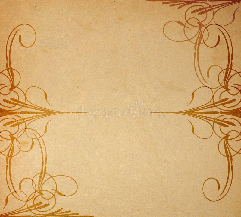 Altes Papier auf Verzierung vektor abbildung