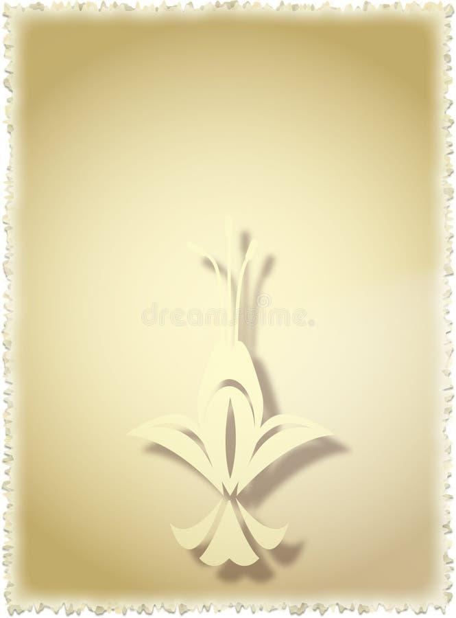 Altes Papier. Blumenweinlese lizenzfreie abbildung