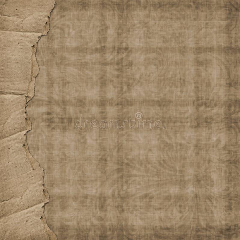 Altes Papier in der grunge Art. Abdeckung für photoalbum vektor abbildung
