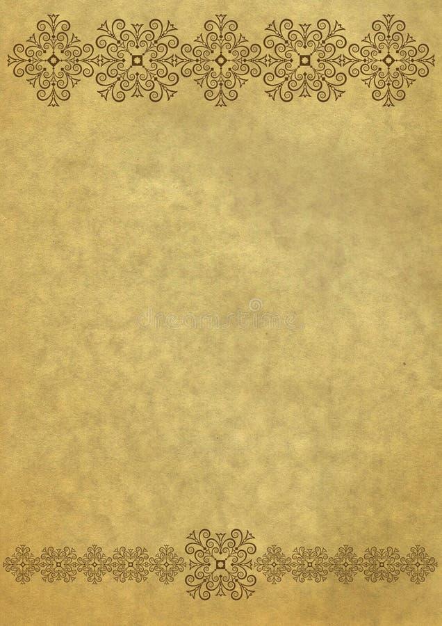Altes Papier der Weinlese mit Schneeflocken lizenzfreie abbildung