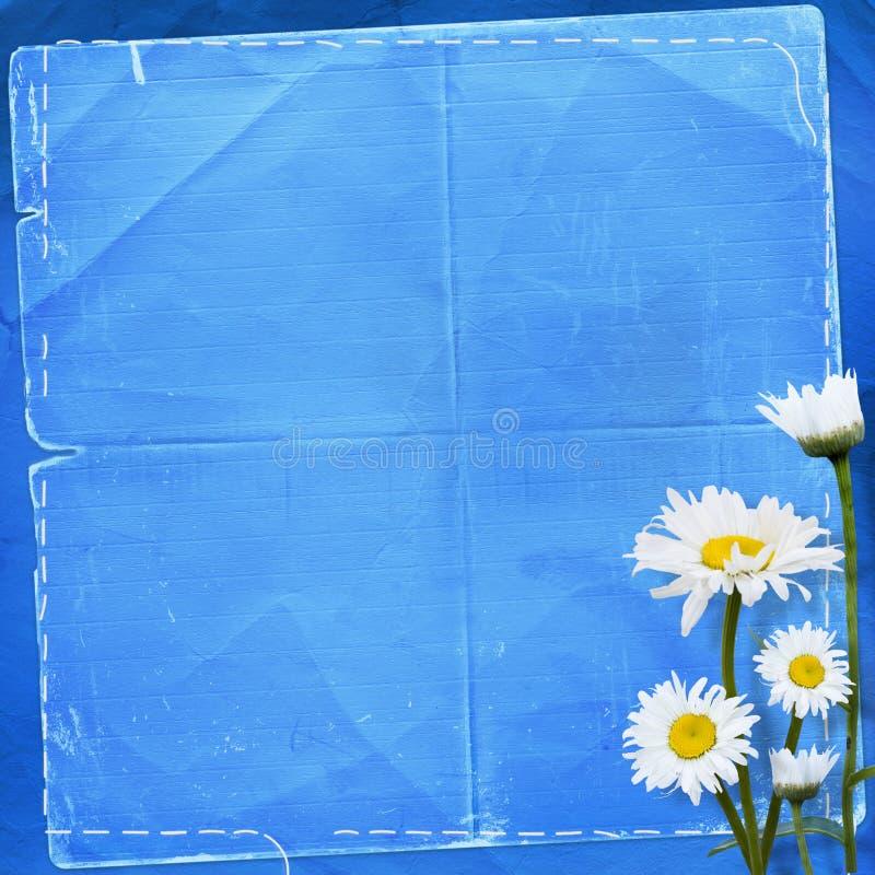 Altes Papier mit Blumenstrauß stockfoto