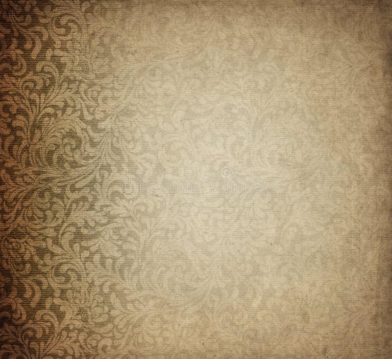 Altes Papier mit paisly Auslegung lizenzfreie abbildung