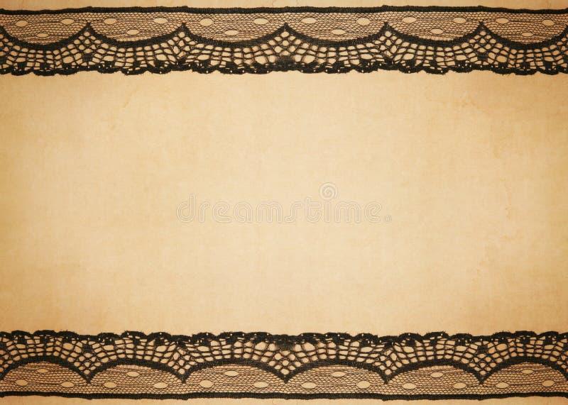 Altes Papier mit Spitzeauslegung lizenzfreies stockbild