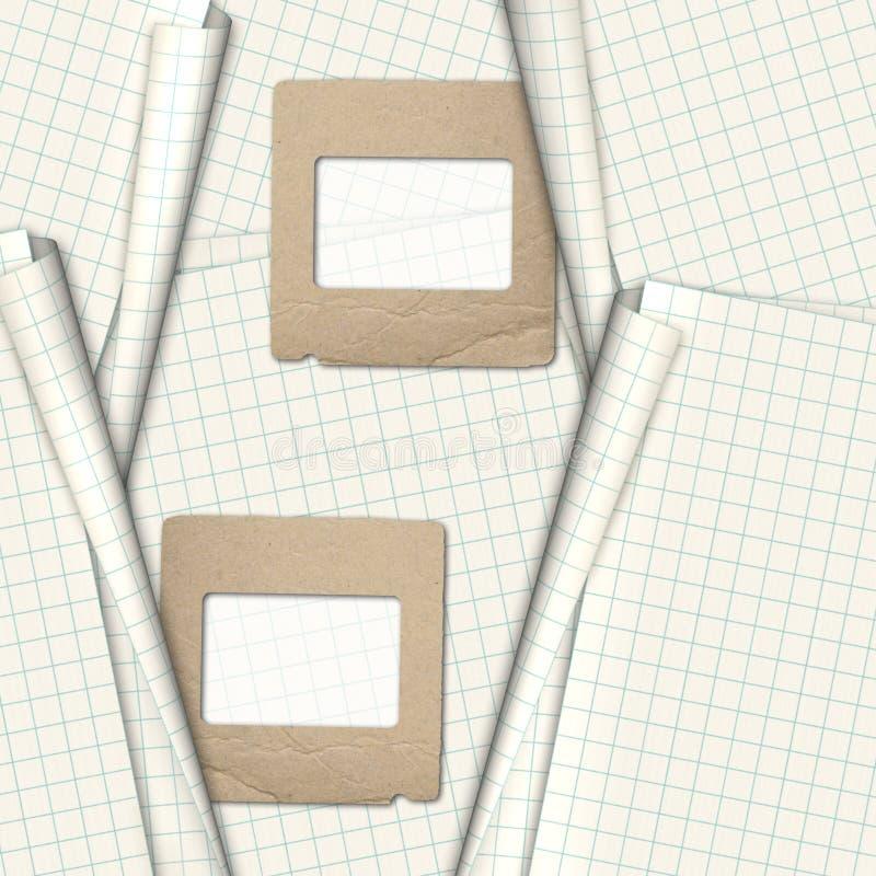 Altes Papier schiebt für Fotos auf Notizbuch vektor abbildung