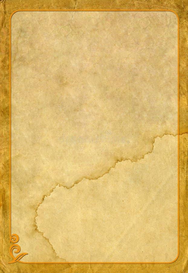 Altes Papier und Rahmen stockfoto. Bild von material - 30318454