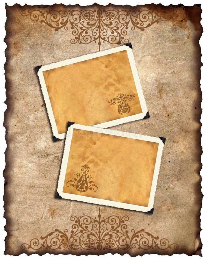 Altes Papier Und Retro- Fotorahmen Stock Abbildung - Illustration ...
