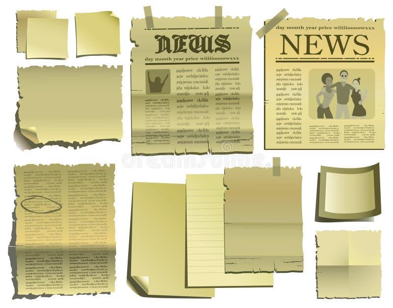 Altes Papier und Zeitung lizenzfreie abbildung