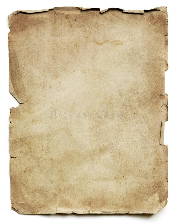 Altes Papierblatt  stockbild
