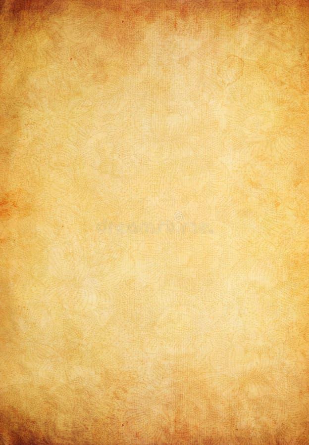 Altes Papierpergament als grunge Hintergrund lizenzfreies stockfoto