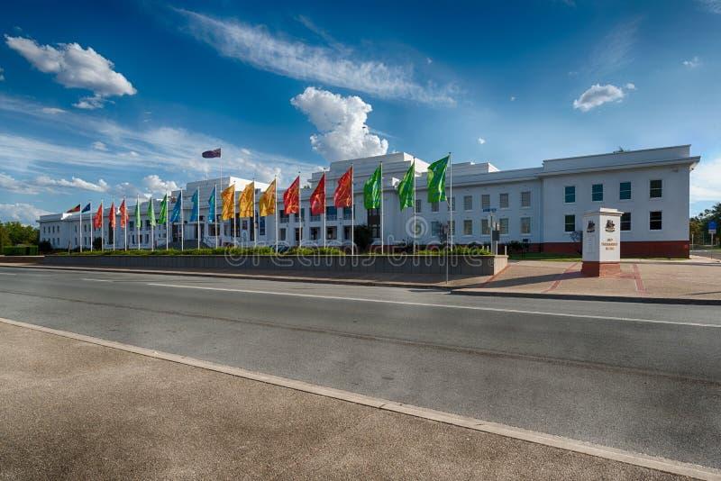 Altes Parlamentsgebäude, Canberra, Australien stockfotos