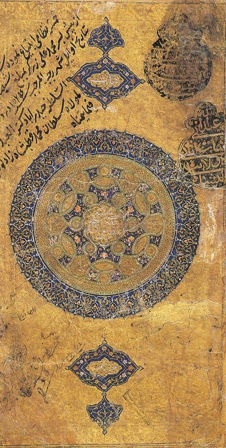 Altes persisches Papier stockfotos