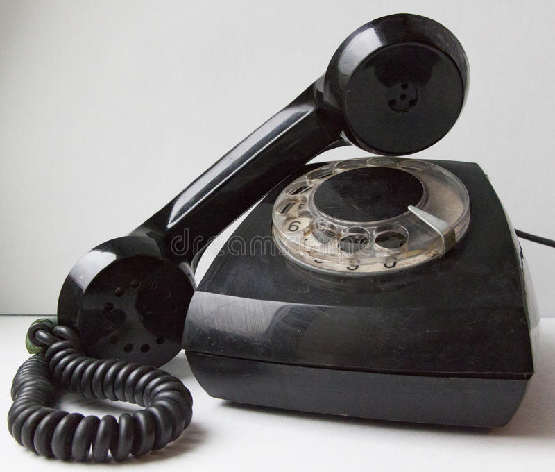 Altes Plattetelefon lizenzfreie stockfotografie