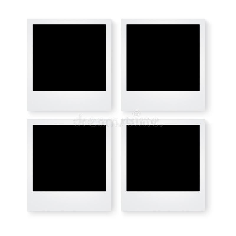 Altes Polaroid auf weißem Hintergrund lizenzfreie stockfotos