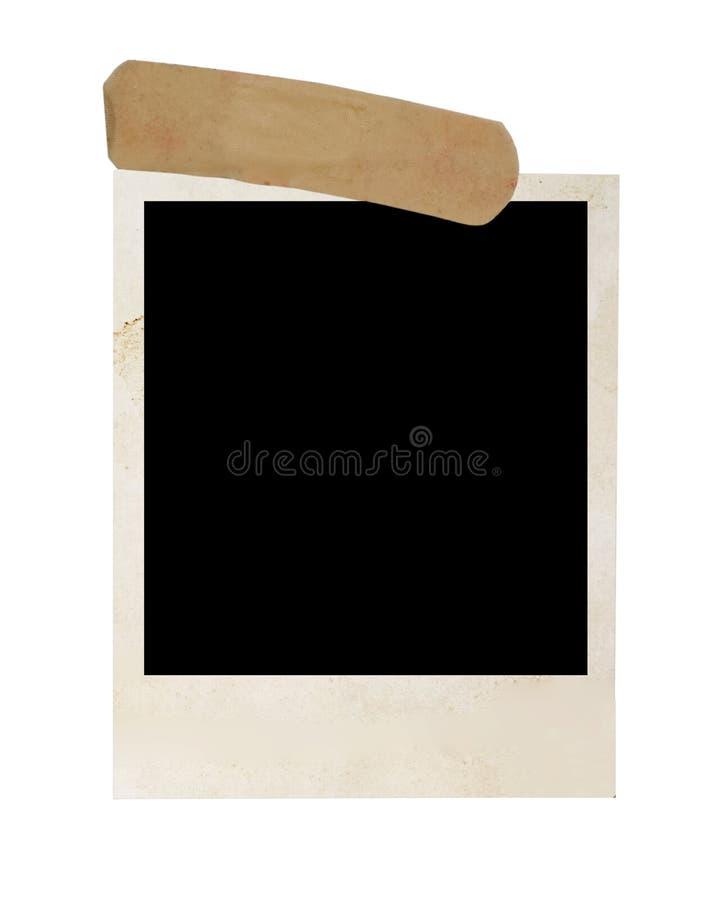 Altes polaroidfeld stockbilder