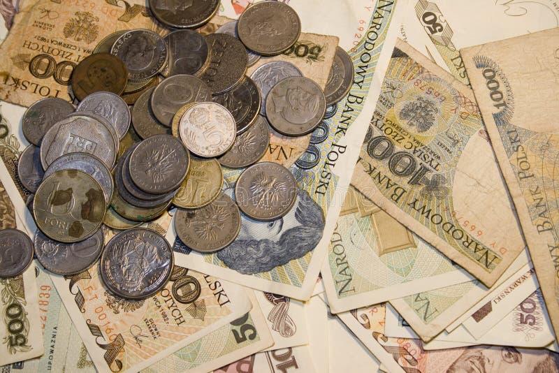 Altes, polnisches Geld lizenzfreie stockbilder